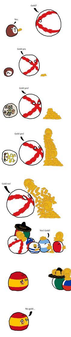 Gold #gold #polandball Gold Diy, Gold Gold, Some Jokes, History Memes, How To Make Comics, Funny Tweets, Funny Comics, Poland, Humor