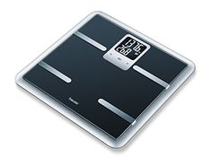 Beurer Glass Body Analysis Scale Measures Weight Fat Water and Muscle Percentages ** Be sure to check out this awesome product.