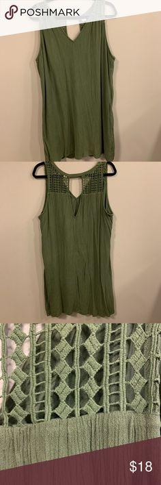 de3b363a2e Shop Women s Old Navy Green size XL Mini at a discounted price at Poshmark.  Description  Army green dress w  cut out neck line detail.
