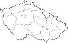 Slepá mapa krajů ČR
