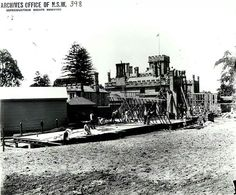 Construction of Government House,Sydney
