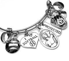 Softball Athletes Patron Saint St. Sebastian Catholic Holy St Sebastian, Patron Saints, Softball, Athletes, Catholic, Charmed, Unique Jewelry, Bracelets, Handmade Gifts