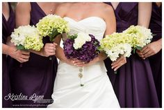Purple wedding bouquets | Captured in Colorado Springs, CO by Kristina Lynn Photography & Design | www.kristinalynnphoto.com
