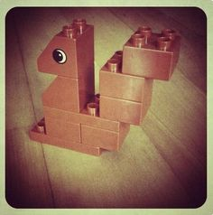 LEGO squirrel ... made from DUPLO