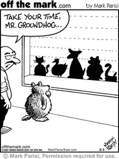 Happy Groundhog Day! Shadow knows.