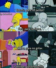 Simpsons Frases, Sad Quotes, Love Quotes, Qoutes, Triste Disney, Sad Life, The Simpsons, Otaku Anime, Bts Memes
