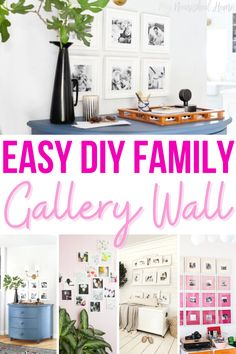 Gallery walls also become a centerpiece for conversation when guests and family come to visit. And if your house is like mine, a point of pride for kids when their faces make the photographs in the family shrine. #diy #familygallerywall #homedecor #familyphotos #decorideas #homedecorideas #family Art Over Bed, Homemade Signs, Statement Wall, Rustic Art, Beautiful Interior Design, Inspirational Wall Art, Gallery Walls, Living Room Art, Easy Diy Crafts