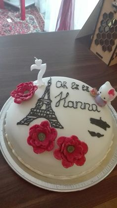 For my daughter's birthday Paris cake My Daughter Birthday, To My Daughter, Paris Cakes, Desserts, Food, Meal, Deserts, Essen, Hoods