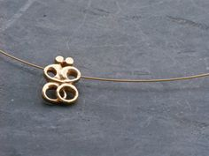 Greek Love Gold Necklace Abstract Cycladic Lovers by GreekMythos