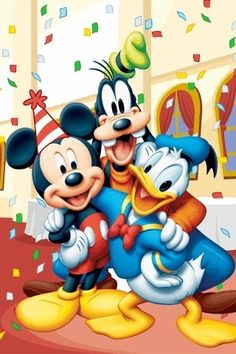 Birthday with Mickey and friends