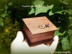 Wedding Ring Box, Custom Ring Box, Personalized Gift Box, Gift Box, Wooden Box…