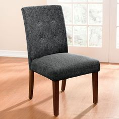 Extra Wide Tweed Parson Chair image