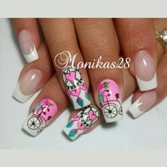 Publicación de Instagram de monika herrera • 13 de May de 2017 a las 1:56 UTC Gorgeous Nails, Pretty Nails, Dream Catcher Nails, Stylish Nails, Nail Stickers, White Nails, Nail Arts, You Nailed It, Pedicure
