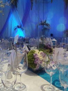 Centros de mesa para una boda en la noche