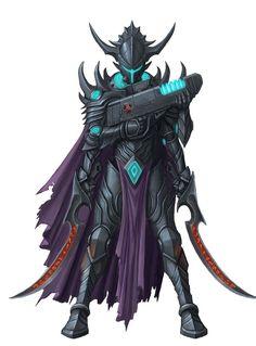 Kasatha Hellknight Soldier - Starfinder RPG (Core Rulebook Art)