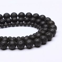 Aliexpress.com : Buy Wholesale 8mm Loose Lava Rock Stone Natural Black Volcanic Round Beads 48pcs/lot For Bracelet Necklace DIY Making Drop Shipping from Reliable lot records suppliers on Beasivor Jewellery Store