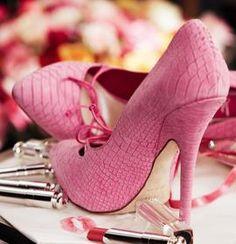 Pink Heels: Rainbow Heels