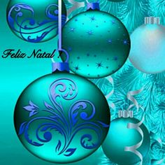 Kind of a turquoise / aqua Wallpaper with baubles . By Artist Unknown.