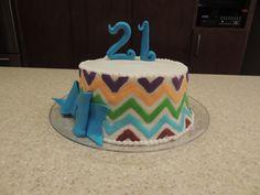 Multi color Chevron Cake
