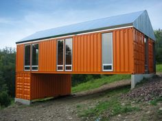 I like container houses.- nice small one here.