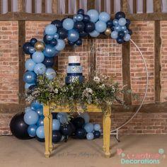 Wedding balloons in Luton & Dunstable - Creative Decorations Large wedding balloon hoop with blue balloons Balloons And More, Large Balloons, Giant Balloons, Confetti Balloons, Balloon Centerpieces, Balloon Decorations, Birthday Decorations, Balloon Display, Balloon Garland
