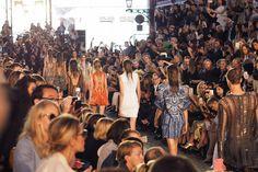 Metallics and rich shades at Julien McDonald at London Fashion Week Spring Summer 2016