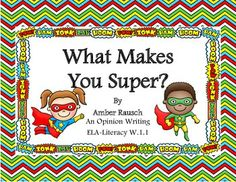 """Free - """"What Makes You Super?""""- A Common Core Writing Lesson ....Follow for Free """"too-neat-not-to-keep"""" teaching tools & other fun stuff :)"""