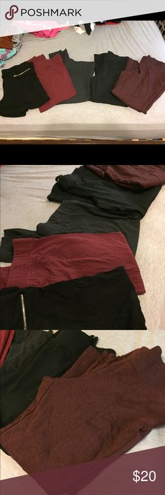 Lot Faded Glory Leggings Size XL Used Lot of Faded Glory Leggings Size XL Faded Glory Pants Leggings