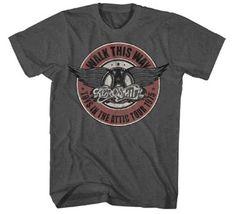 Aerosmith logo classique rétro ringer tee-shirt homme.