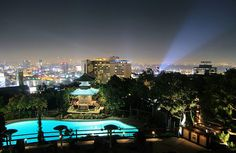 Yamashiro, overlooking the Hollywood Hills