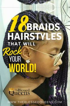 18 Braids Hairstyles that will Rock your World! For long hair to short hair to medium this tutorials are step by step easy and simple great for any occasion for Schools to sports or even for wedding! Natural Hair Tutorials, Natural Hair Updo, Natural Hair Care, Natural Hair Styles, Natural Curls, Cool Braid Hairstyles, Easy Hairstyles For Long Hair, African Hairstyles, Hairstyle Ideas