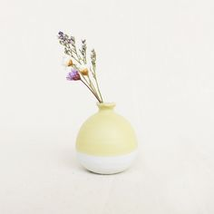 Handmade Pastel Yellow mini vase