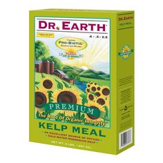 DR EARTH 2 Lb Kelp Meal * Kelp meal * Excellent source of potash * Contains ProBiotic beneficial soil microbes * Promotes health in all planting applications * Contains minerals that support plant health and growth * A potent all around ingredient that will benefit all plants * 2 lb box #hometools #homeequipment #homedepot #houseneeds