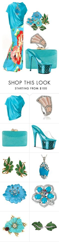 """""""Turquoise scattering"""" by m-kints ❤ liked on Polyvore featuring Lanvin, Annoushka, Kayu, Pleaser, LE VIAN and just"""