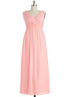 Grand Guest Dress in Rose - Plus Size - Chiffon, Woven, Pink, Solid, Ruching, Special Occasion, Prom, Wedding, Bridesmaid, Maxi, Tank top (2...