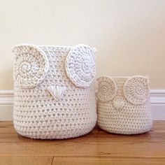 This DIY Owl Basket Crochet Free Pattern is super easy and the perfect beginner project. Check out the video tutorial too. Owl Basket, Easy Crochet, Free Crochet, Free Pattern, All Free Crochet, Crochet Free Patterns, Free Knitting