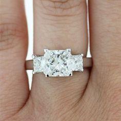 Princess Cut Three Stone engagement ring