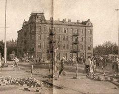 Warszawa, dom na rogu Emilii Plater i Al. Jerozolimskich został wyburzony ok.1972 Na jego miejscu stoi dziś szklany wieżowiec. Foto sprzed 1972