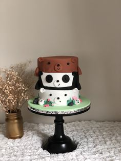 Pretty Birthday Cakes, Pretty Cakes, Cute Cakes, Beautiful Cakes, Amazing Cakes, Kreative Desserts, Kawaii Dessert, Cute Baking, Bear Cakes