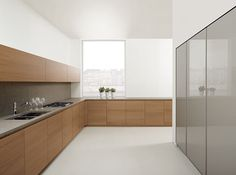Moderne Küche / Holzfurnier / lackiert 023 MK CUCINE