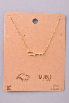 Taurus Constellation Pendant Necklace