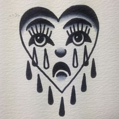 Crying heart - symbolizes the sorrow that a broken heart brings/the fragility of one's heart