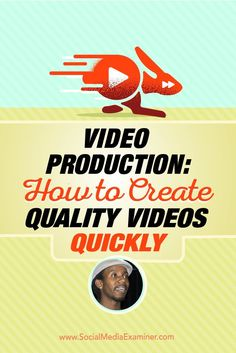 Do you create videos for your fans and followers?  Want to improve the quality?  Today, Roberto Blake (/robertoblake/) is with us to explore how quality videos are produced. Via /smexaminer/.