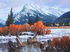 Canadian Artist Jean Geddes is a featured artist at the mountain galleries at the fairmont. Jean's paintings are available. Watercolor Landscape, Landscape Paintings, Watercolor Art, Oil Paintings, Landscapes, Canadian Painters, Canadian Artists, Magic Realism, Epic Art