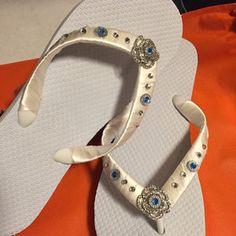Sandals for Bride. Bride Flip Flops, Bridesmaid Flip Flops, Bridesmaid Sandals, Beach Wedding Sandals, Wedding Flip Flops, Diy Leather Sandals, Wedge Flip Flops, Bridal Shoes, Me Too Shoes