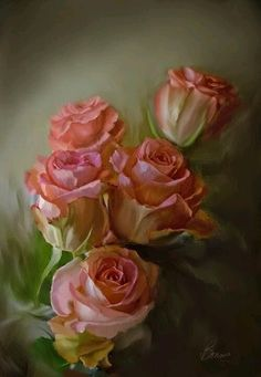 Oil Painting Flowers Art Beautiful Floral Paintings Owl Oil Painting V – radishral Oil Painting Flowers, China Painting, Painting & Drawing, Floral Paintings, Rose Paintings, Art Floral, Rose Art, Beautiful Paintings, Beautiful Roses