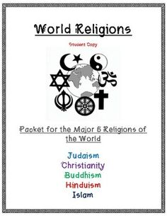 World Religions Packet & Activities Social Studies Classroom, Teaching Social Studies, Teaching History, Teaching Resources, Teaching Ideas, Elementary Teacher, Elementary Schools, Upper Elementary, Teacher Blogs