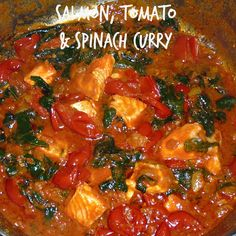 Salmon, Tomato & Spinach Curry