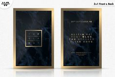 3in1 VIP MINIMAL Flyer Template by WG-VISUALARTS on @creativemarket