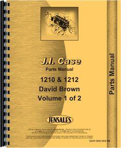 Case 1210 Tractor Parts Manual
